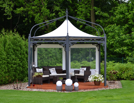 bo wi outdoor living profi pavillon antica roma sechseckig. Black Bedroom Furniture Sets. Home Design Ideas