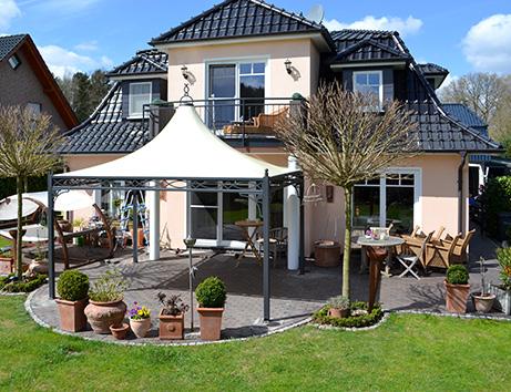 Luxus garten  BO-WI Outdoor Living – Referenzen: Überdachung, Sonnenschutz ...