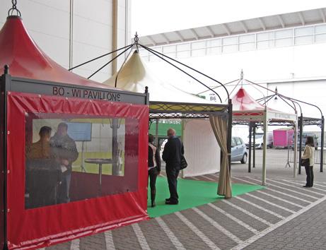 bo wi outdoor living messe pavillons. Black Bedroom Furniture Sets. Home Design Ideas